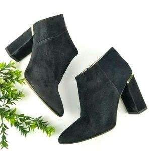 KATE SPADE Darota Black Suede Ankle Boots  S24
